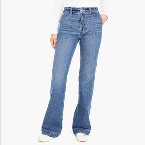 J. Crew Wide Leg Trouser Jeans Sz 32